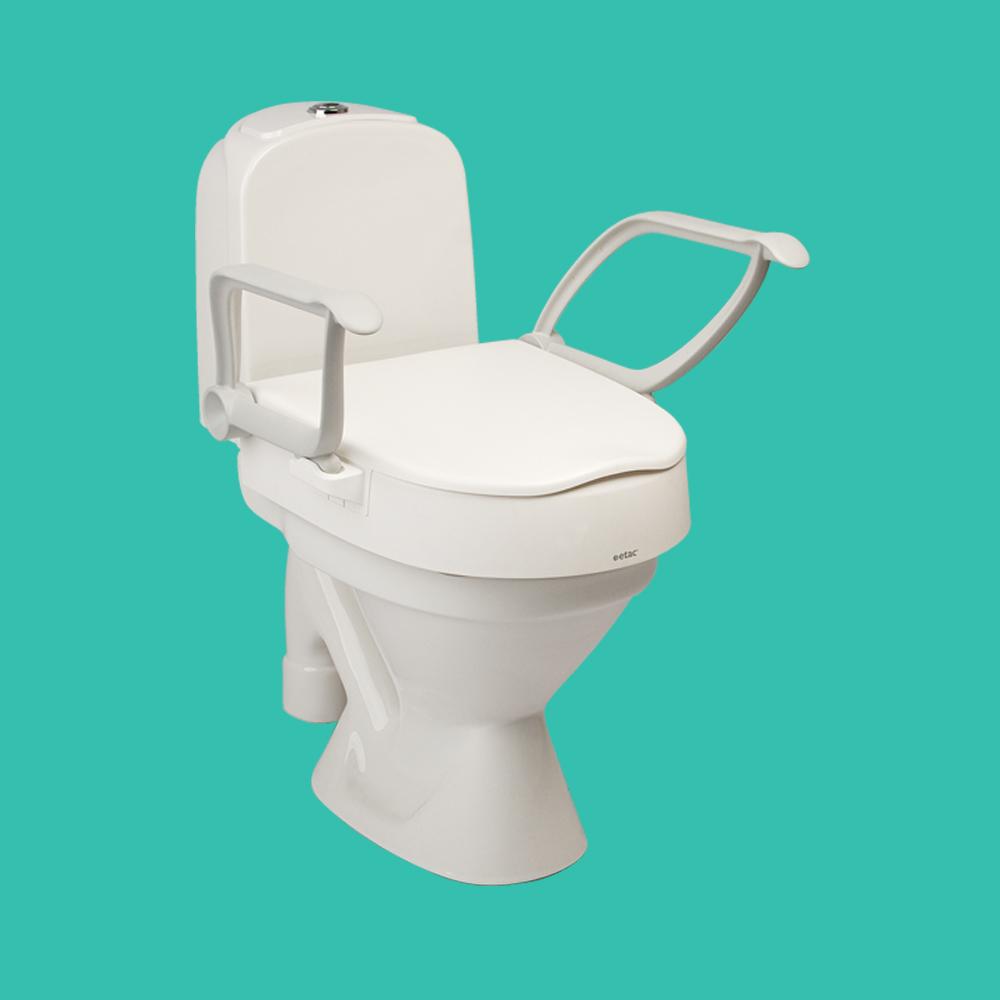 Réhausseur de toilettes Etac Cloo avec accoudoirs