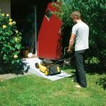 La rampe peut servir pour autre chose qu'un fauteuil roulant : une tondeuse, une entrée de garage pour voitures...
